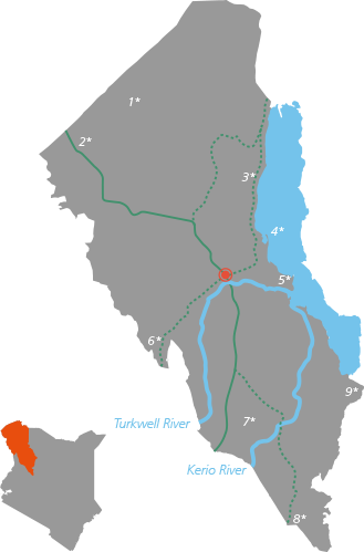 Map - Turkana Kenya
